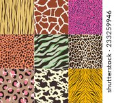 repeated wild animal print... | Shutterstock .eps vector #233259946