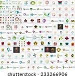 logo mega collection  abstract...   Shutterstock .eps vector #233266906