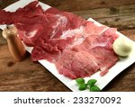 sliced meat roulades    Shutterstock . vector #233270092