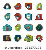 school sticker flat banner... | Shutterstock .eps vector #233277178