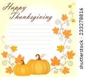 creeping pumpkin thanksgiving... | Shutterstock .eps vector #233278816
