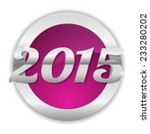 purple new year 2015 button | Shutterstock .eps vector #233280202
