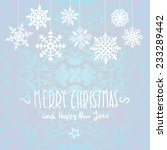 merry christmas card with... | Shutterstock .eps vector #233289442