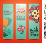 vector illustration with summer ... | Shutterstock .eps vector #233294362