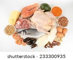 food high in protein isolated...   Shutterstock . vector #233300935