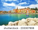 menton   sunny town in south of ... | Shutterstock . vector #233307808