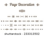 calligraphic design elements... | Shutterstock .eps vector #233313502