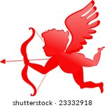 red cupid   valentines day | Shutterstock .eps vector #23332918