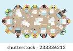 business meeting. vector... | Shutterstock .eps vector #233336212
