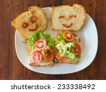 Concept Sandwich With Smile...