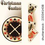 christmas casino poker cards ... | Shutterstock .eps vector #233341438