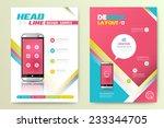abstract vector brochure... | Shutterstock .eps vector #233344705