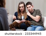 horizontal view of scared... | Shutterstock . vector #233344945
