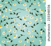 chamomile herbal tea seamless...   Shutterstock .eps vector #233348536