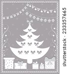 christmas card in the style of... | Shutterstock .eps vector #233357665