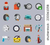 tire service car auto mechanic... | Shutterstock .eps vector #233361058