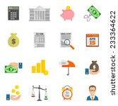 tax icon flat set with bank... | Shutterstock .eps vector #233364622