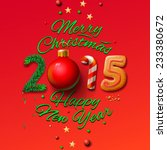 happy new year 2015 greeting... | Shutterstock .eps vector #233380672
