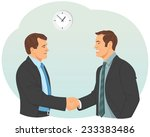 two smiling businessman in... | Shutterstock .eps vector #233383486