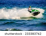 high speed jetski with water... | Shutterstock . vector #233383762