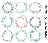 set of winter wreaths. eps 10.... | Shutterstock .eps vector #233407402