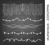 set of hand drawn string... | Shutterstock .eps vector #233424946