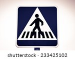 crosswalk with blue black and... | Shutterstock . vector #233425102