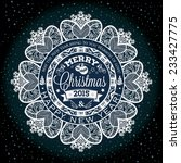 christmas and new year label... | Shutterstock .eps vector #233427775