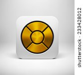 white abstract app icon  button ...
