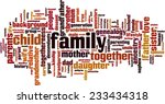 family word cloud concept.... | Shutterstock .eps vector #233434318