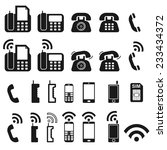 telephone icons set isolated on ... | Shutterstock . vector #233434372