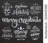 christmas typographic... | Shutterstock .eps vector #233445382