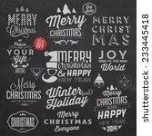 christmas typographic... | Shutterstock .eps vector #233445418