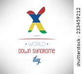 world down syndrome day flat... | Shutterstock .eps vector #233459212