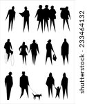 people pedestrian city crowd... | Shutterstock . vector #233464132
