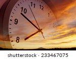 clock face in bright sky | Shutterstock . vector #233467075