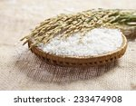 closeup white rice on the... | Shutterstock . vector #233474908
