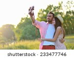 boy and girlfriend having fun... | Shutterstock . vector #233477746