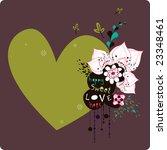 lovely wallpaper | Shutterstock .eps vector #23348461