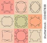 vector set of monograms.... | Shutterstock .eps vector #233487838