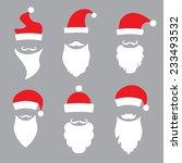hats and beards santa. vector... | Shutterstock .eps vector #233493532
