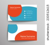 modern simple business card... | Shutterstock .eps vector #233512615