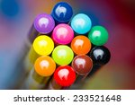 color pencils on colorful... | Shutterstock . vector #233521648