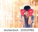 fitness boxer boxing. man... | Shutterstock . vector #233529982