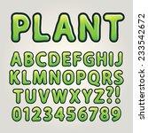 abstract green nature alphabet... | Shutterstock .eps vector #233542672