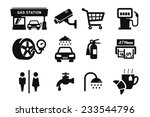 gas station and fuel pump icons ...   Shutterstock .eps vector #233544796