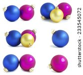 christmas balls isolated on a...   Shutterstock . vector #233545072