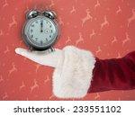 Santa Claus Shows Open Hand...