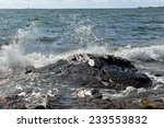 Hectic Baltic Sea. Splashes An...