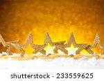 golden christmas fir stars...   Shutterstock . vector #233559625